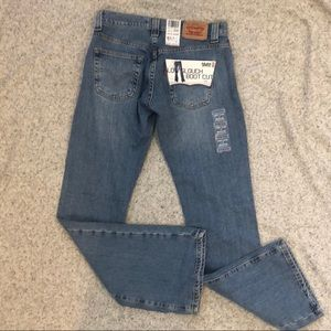 NEW LEVI'S 1 Jr 513 Low Slouch Boot Cut Jeans NWT